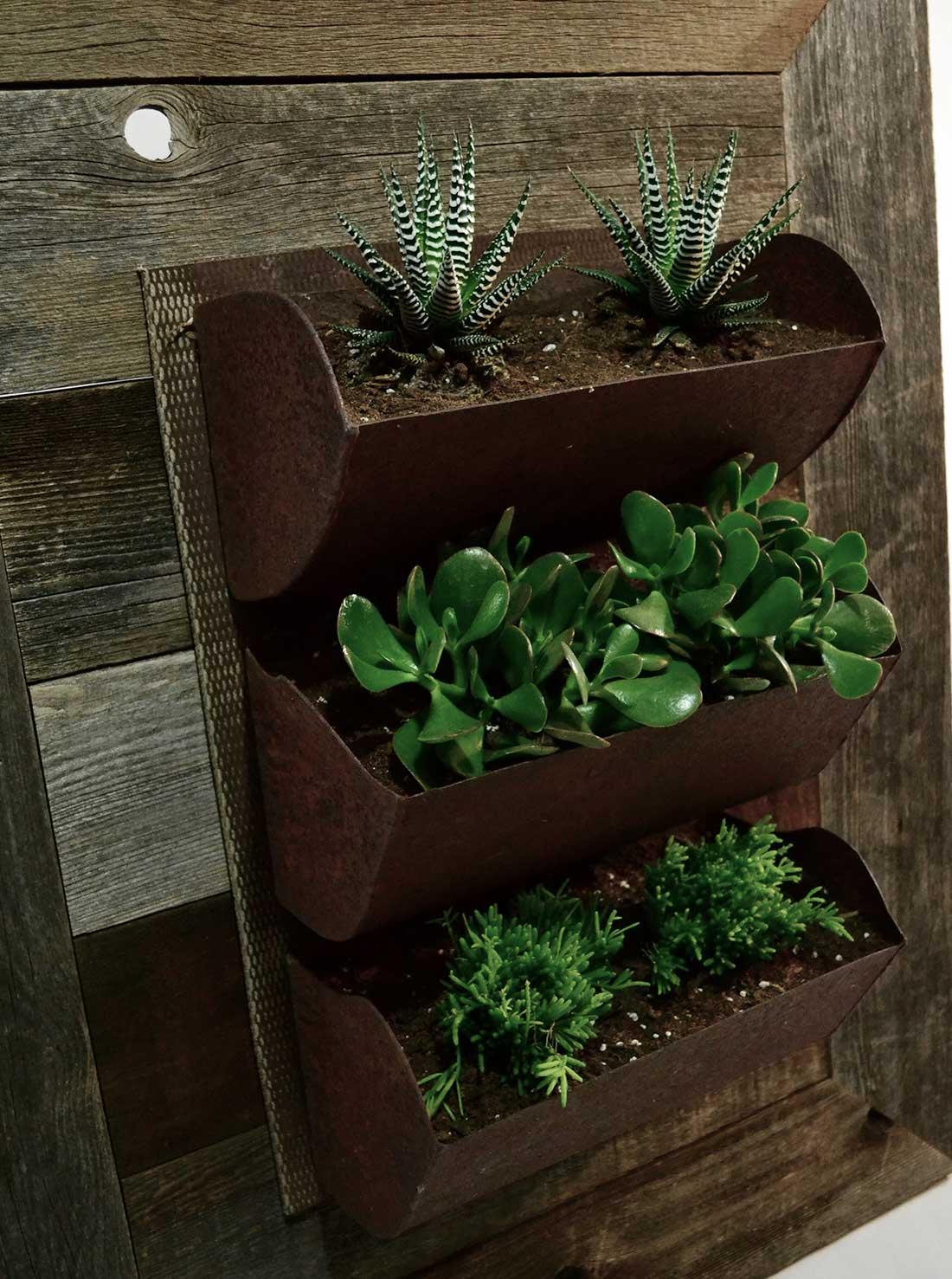 grain elevator conveyor living wall planter