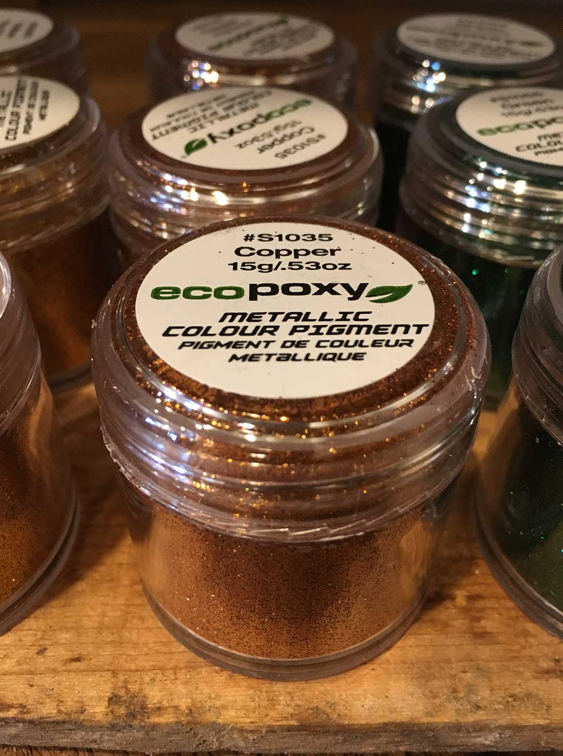 Ecopoxy Metallic Color Pigments Rebornbarns Reclaimed